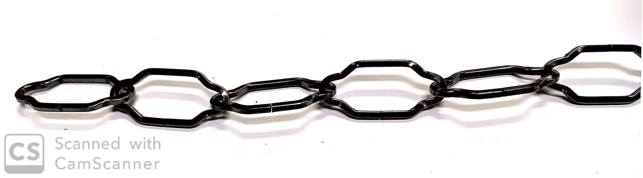 Catena SAGOMATA bronzata mm 43x20 filo 2,5