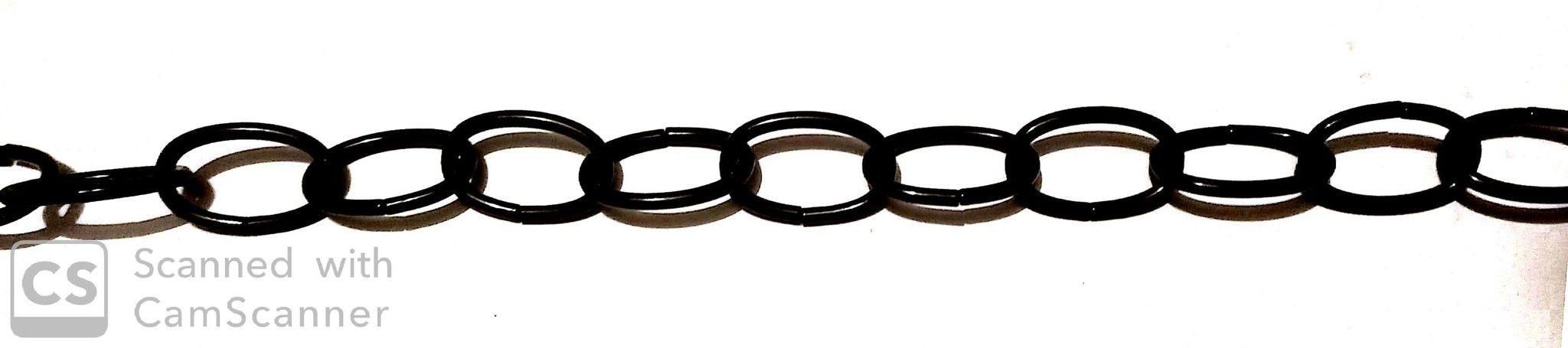 Catena OVALE verniciata nera mm 37x23 filo 3,4