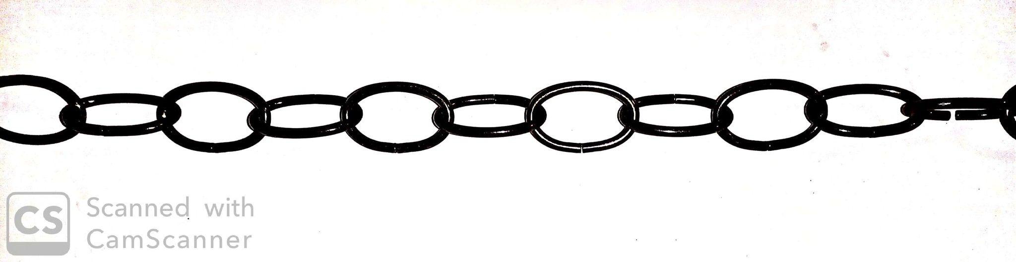 Catena OVALE bronzata mm 37x23 filo 3,4