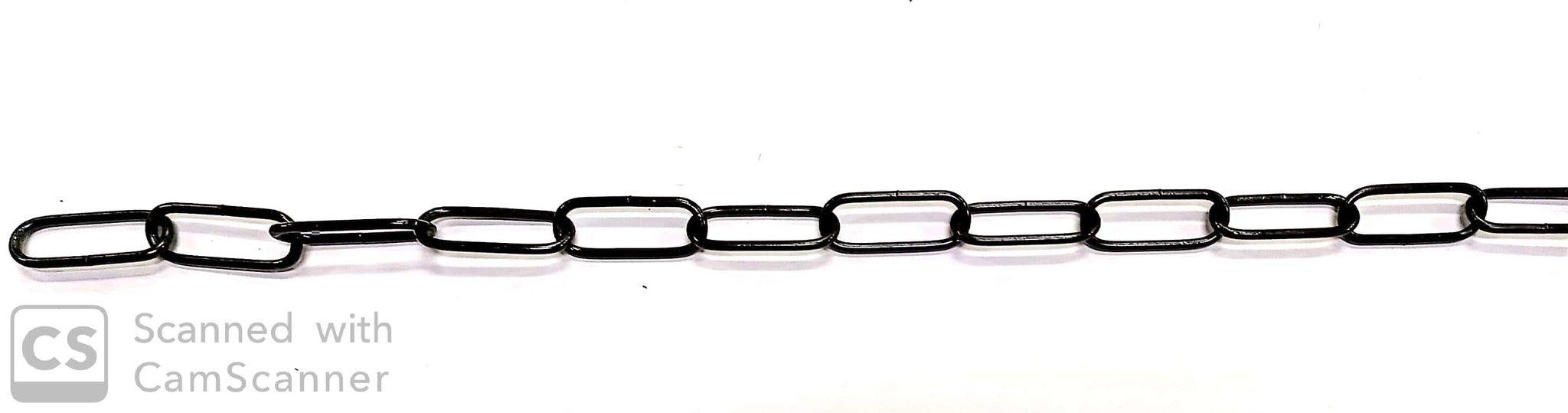 Catena GENOVESE DECORATIVA verniciata nera anello mm 40x16 spessore 2,5