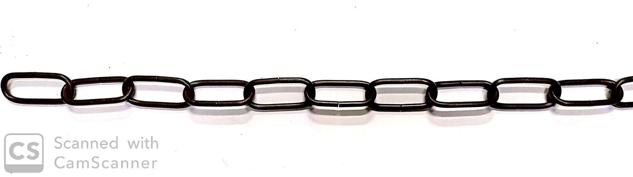 Catena GENOVESE DECORATIVA rame antico anello mm 46x20 spessore 3,8