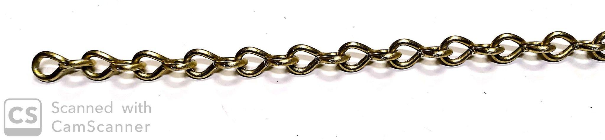 Catena JACK ottonata anello ritorto filo mm 3,4
