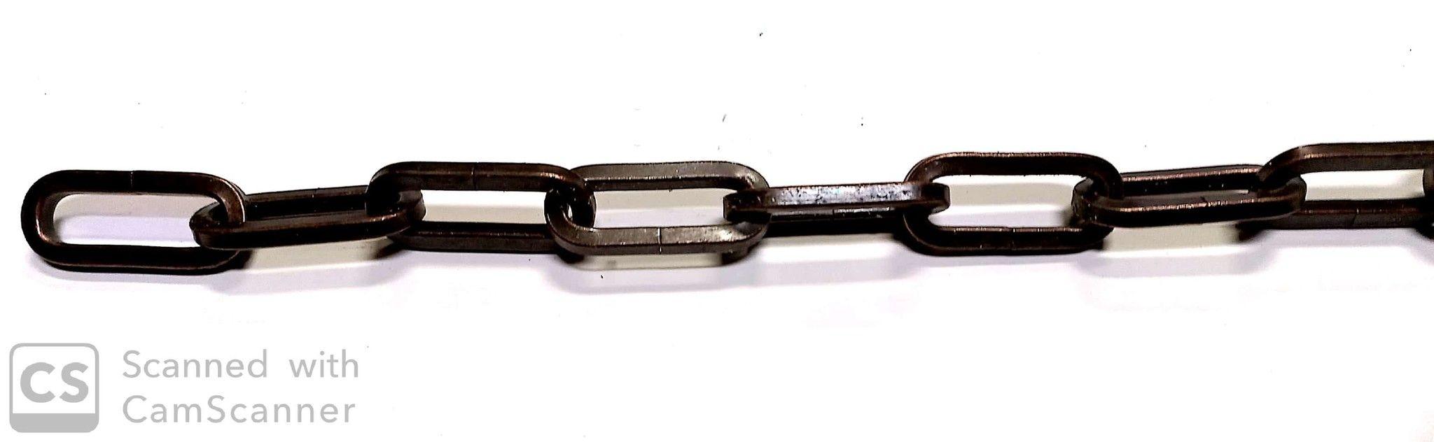 Catena GENOVESE DECORATIVA rame antico anello mm 50x20 spessore 5.0