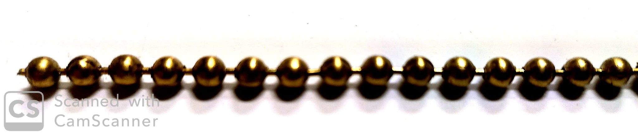 Catena PERLINE mm 3,6 ottone lucido