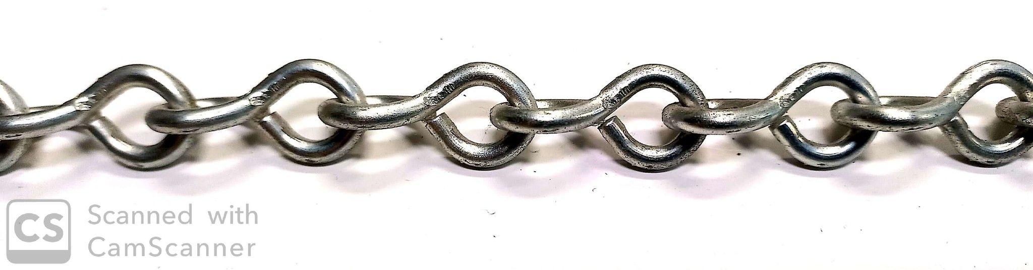 Catena JACK zincata anello ritorto filo mm 3,4