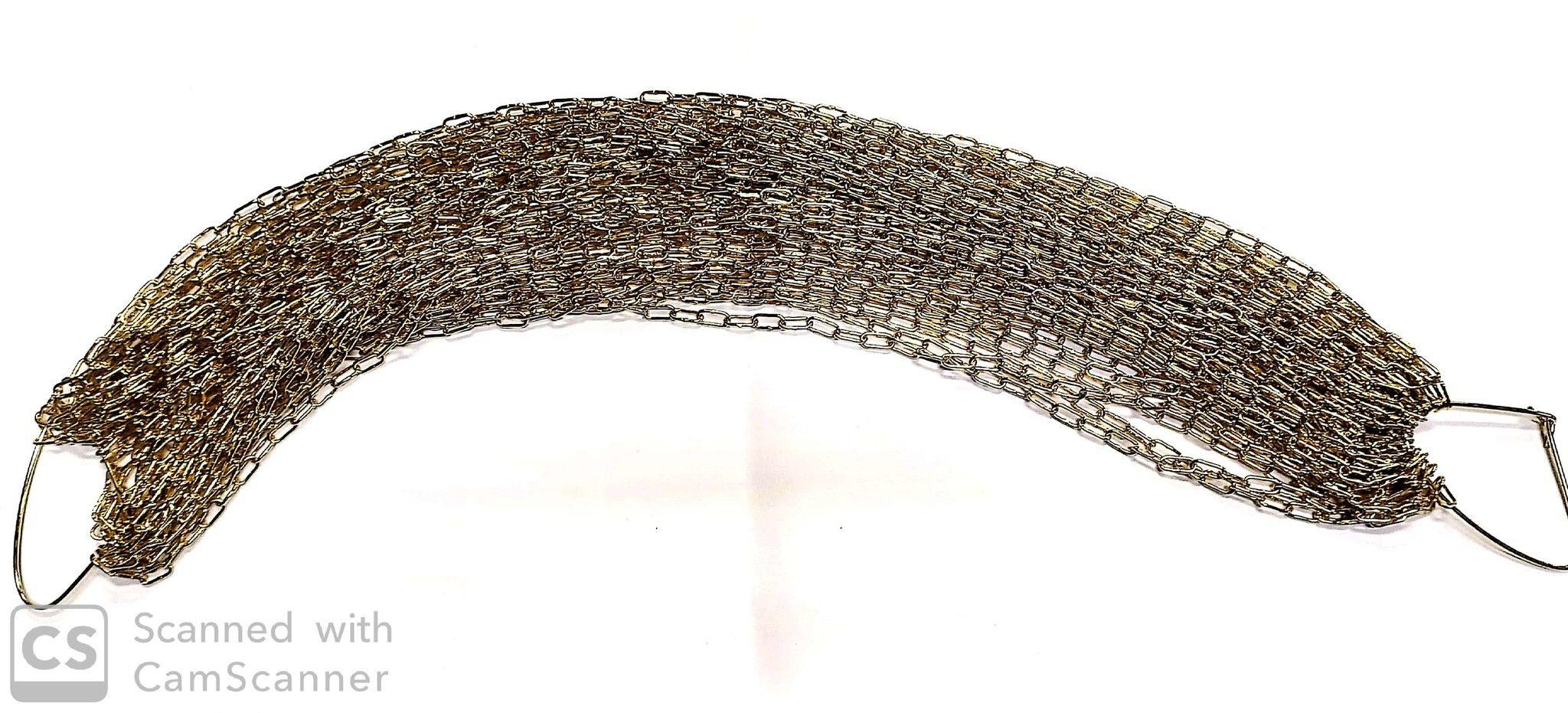 Catena GENOVESE n. 8 ottonata anello mm 13x6 spessore 1,3