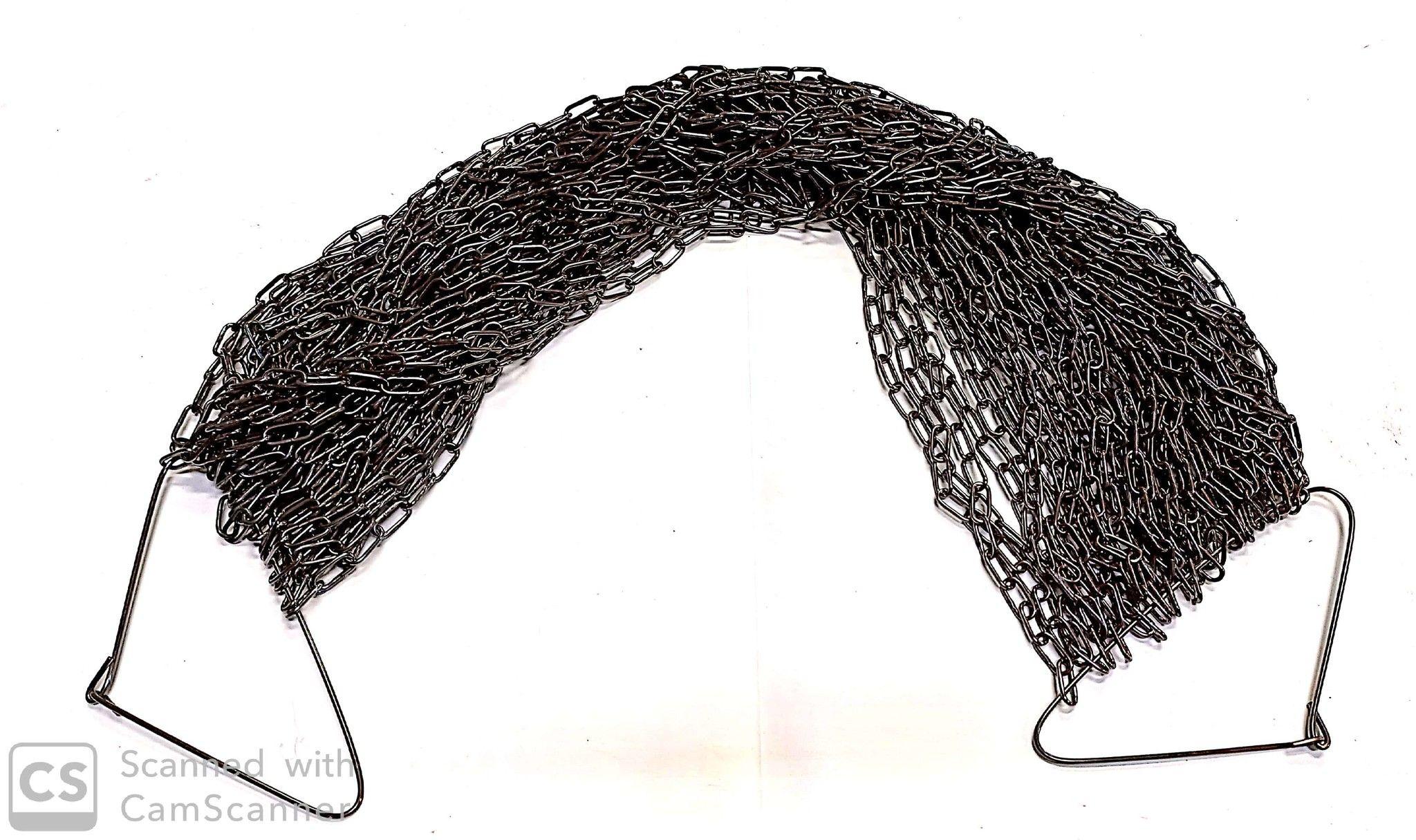 Catena GENOVESE n.13 bronzata anello mm 18x8,5 spessore 1,8