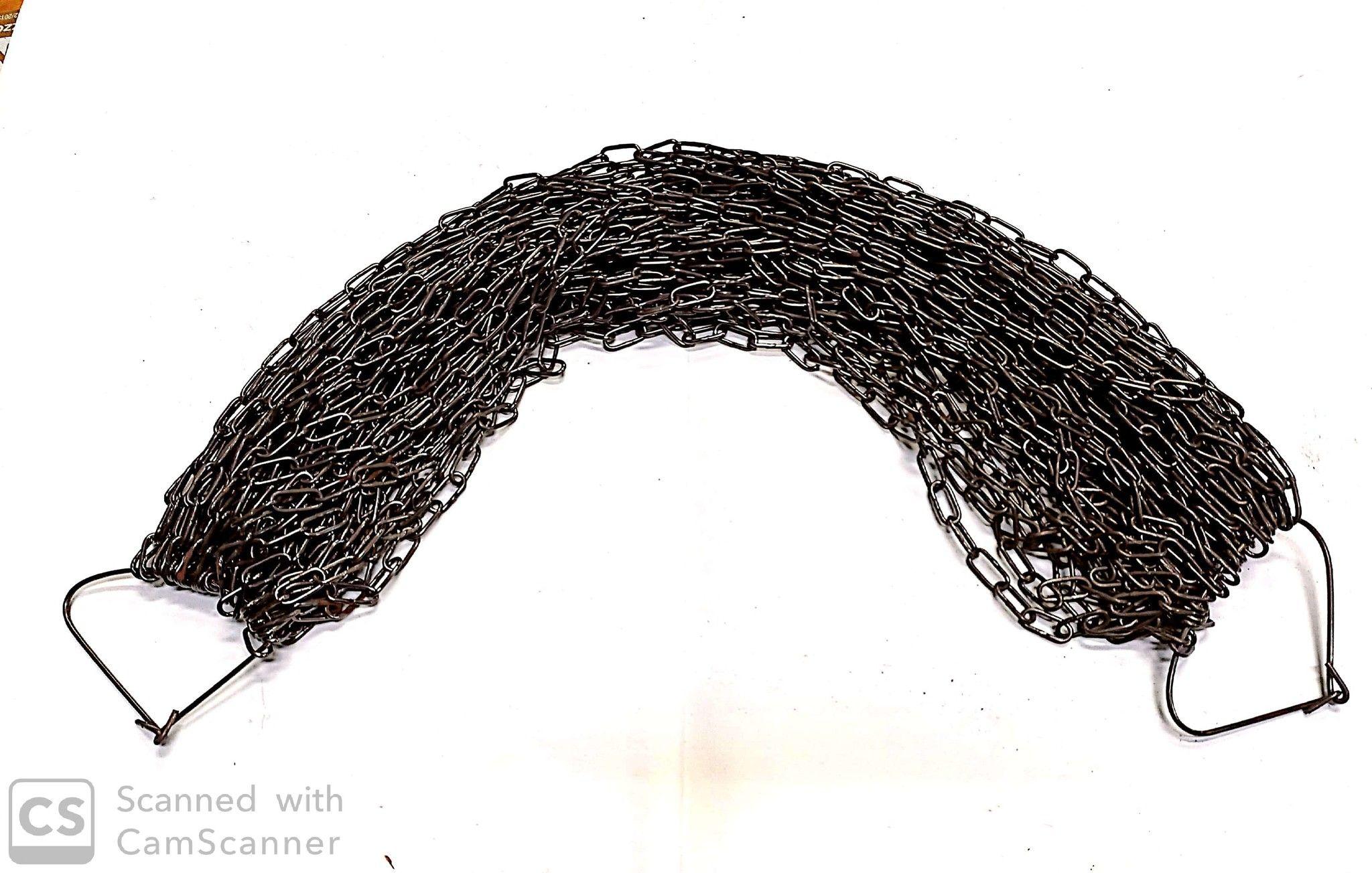 Catena GENOVESE n.13 bronzata anello mm 18x9 spessore 2.0