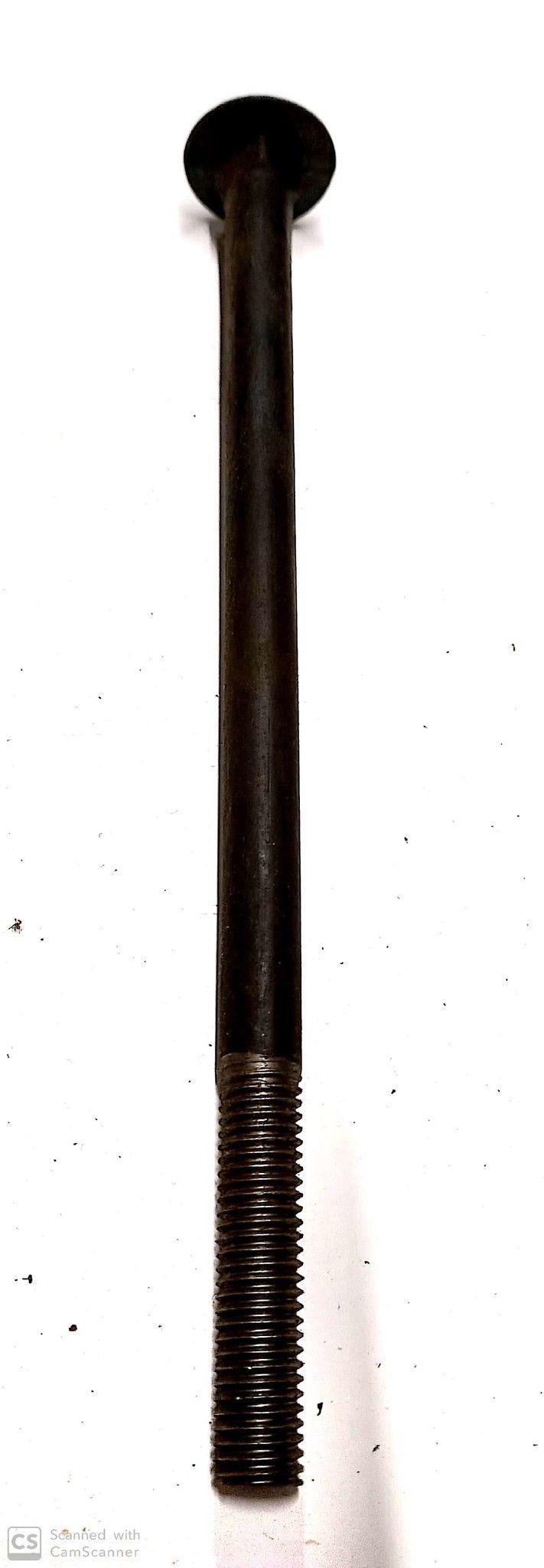 Bullone mm 12 x290 testa tonda quadro sotto testa nero