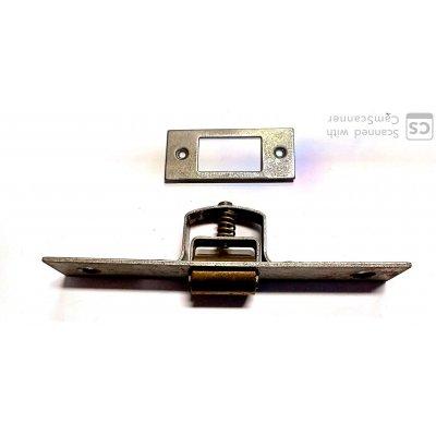 """Cricchetto a rullo """"Va e Vieni"""" cm 14 in ferro grezzo e rullo ottone"""