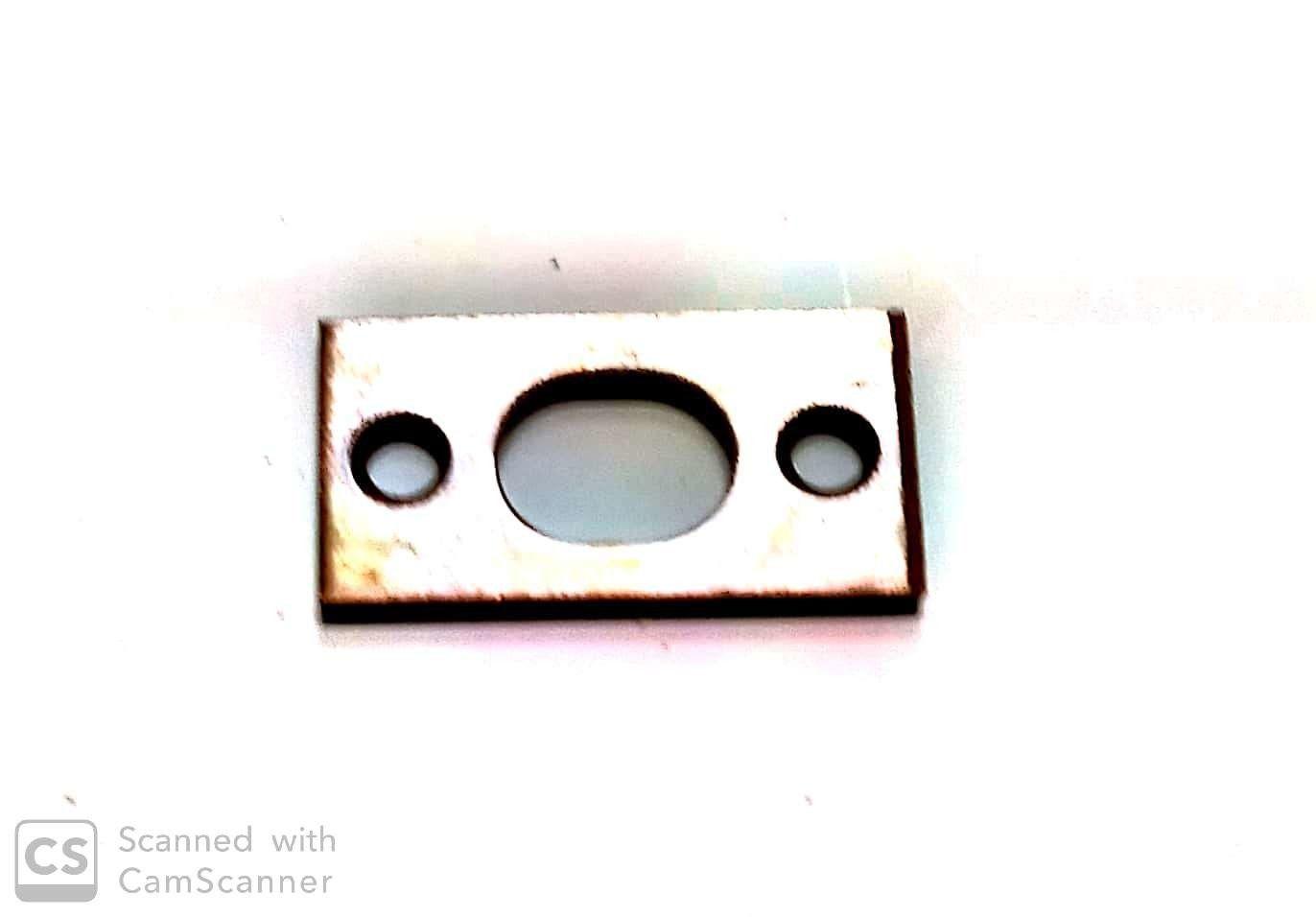 Catenaccio a pulsante tipo stretto cm 20 bronzato AGB 300