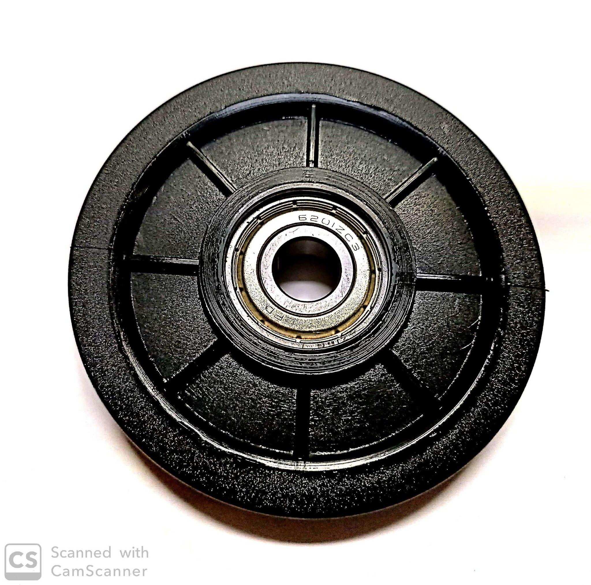 Carrucola nylon con cuscinetti mm  90 foro 12 mm