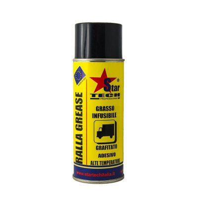 Grasso grafitato adesivo alte temperature spray 400 ml RALLA GREASE