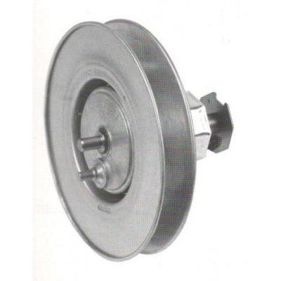 Puleggia con riduttore 1:2,6  e calotta ottagonale d. 200 mm