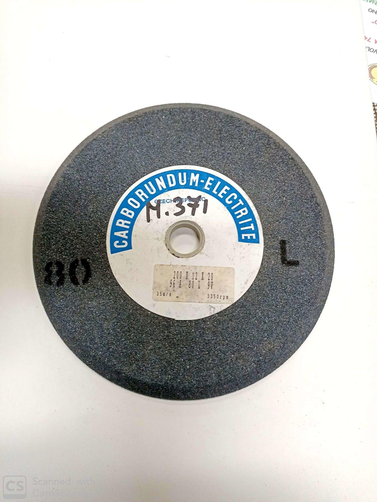 Mola abrasiva a smusso mm 200 x 12 foro 20 al corindone grana 80