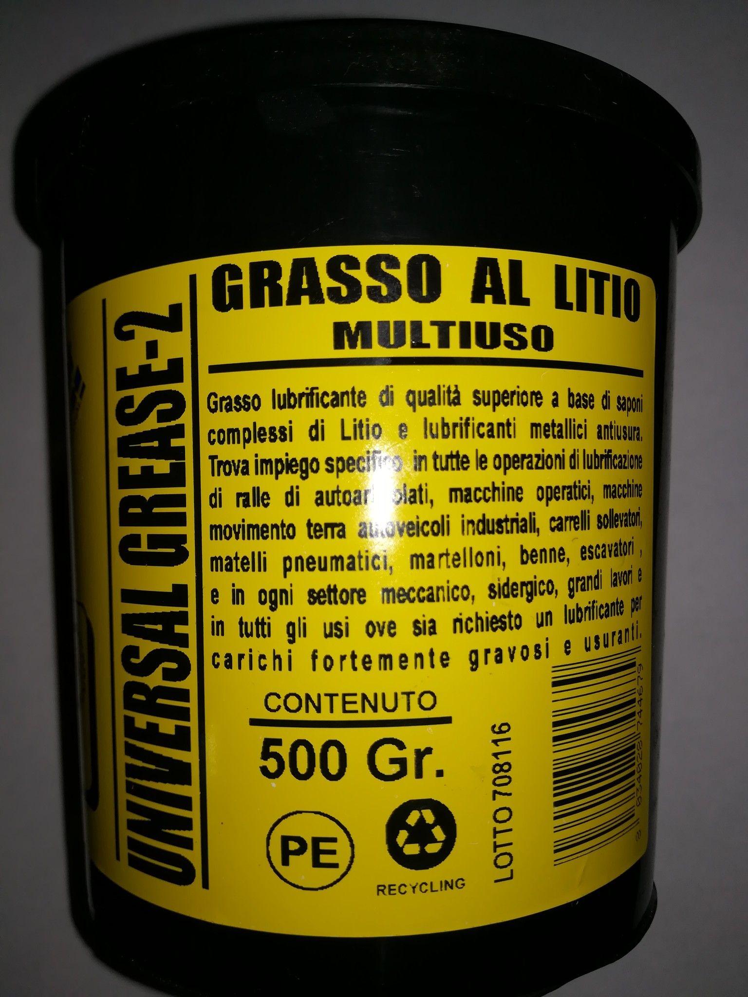 Grasso al litio multiuso gr 500 UNIVERSAL GR-2