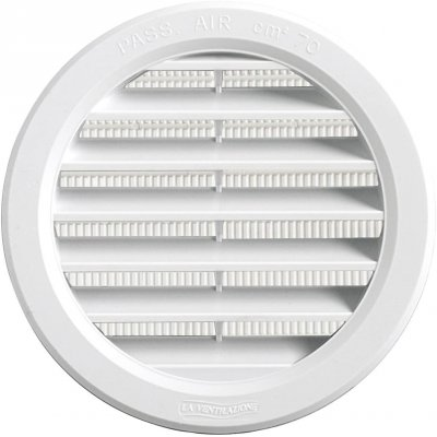 Griglia tonda da incasso mm 120 in plastica BIANCA