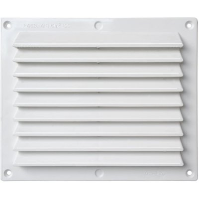 Griglia aerazione rettangolare cm 17 x 15 in plastica bianca