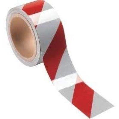 Nastro retroriflettente adesivo bianco/rosso mm 50 x mt 10 DM 7209