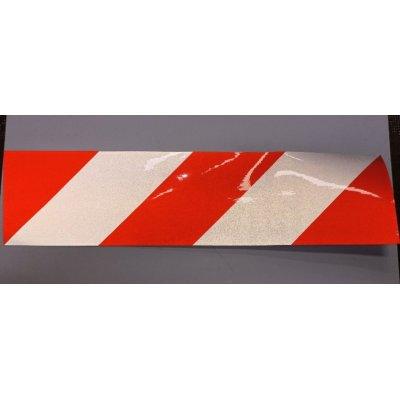 Nastro retroriflettente adesivo bianco/rosso cm 40 x 10 DM 7209