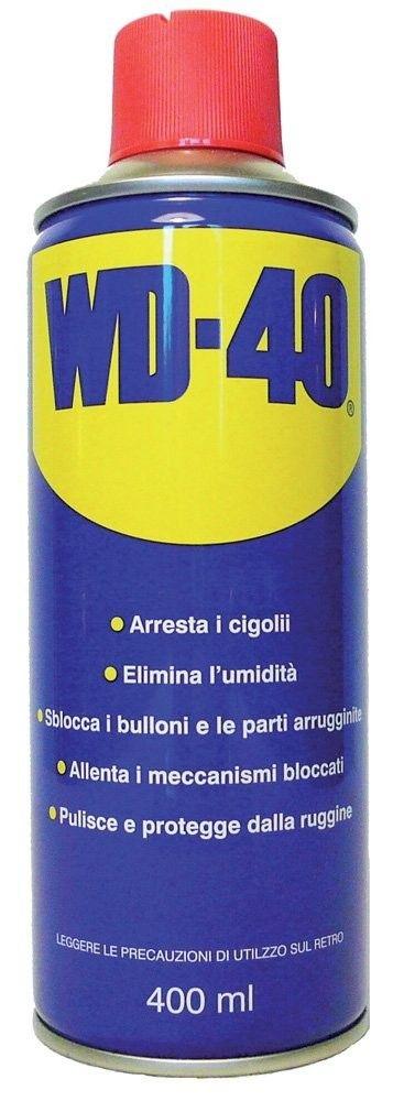 WD40 Lubrificante, Anticorrosivo e Sbloccante, Trasparente, 400 ml