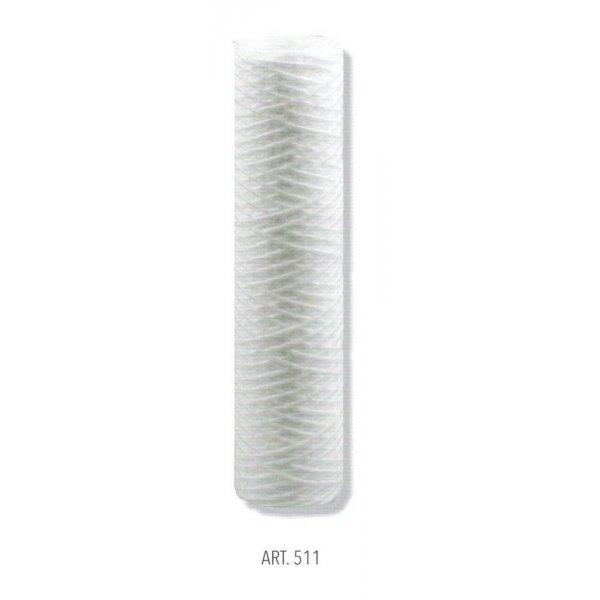 """Cartuccia in filo avvolto da 10 micron per portafiltro BIG 10"""" ( cm 25 )"""