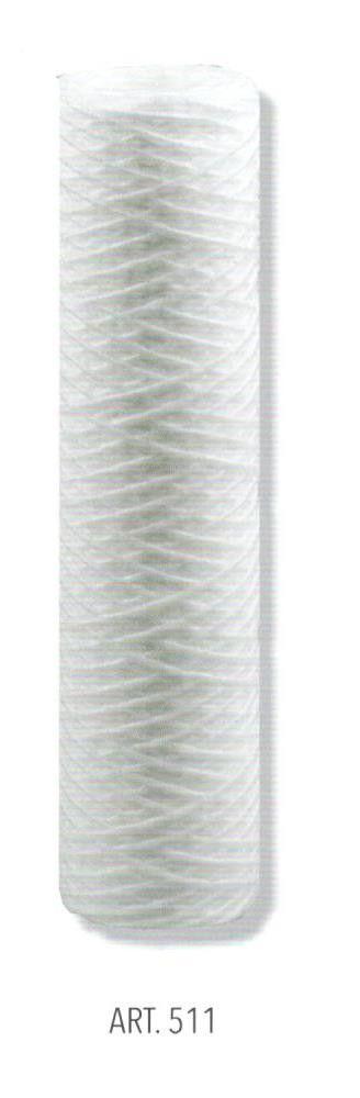 Cartuccia in filo avvolto da  5 micron per portafiltro BIG 10' ( cm 25 )