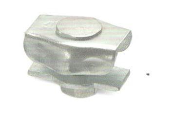10x 2-orecchio morsetto Ø 12,5-15mm larghezza circa 7,5mm senza anello interno zincato #