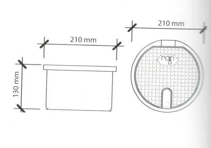 Pozzetto ovale per giardino con valvola M 3/4'