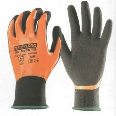 Guanto SIMPLY PRO SL555N in tessuto a maglia a base di poliestere nero