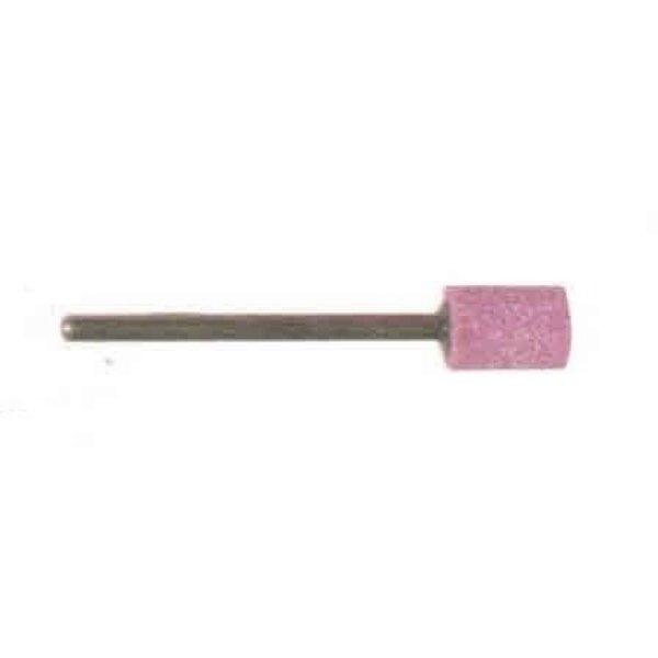 Mola abrasiva CILINDRICA mm  7 x 10 gambo mm 6 al corindone rosa