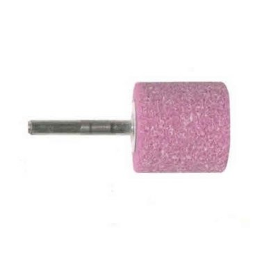 Mola abrasiva CILINDRICA mm 20 x 30 gambo mm 6 al corindone rosa