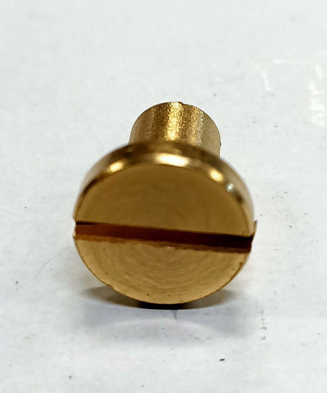 Dado cieco ottone cilindrico filetto mm  6 testa piana taglio cacciavite