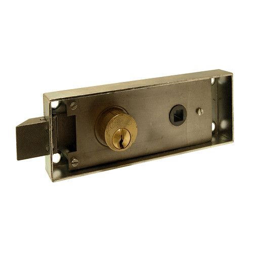 Serratura PREFER 6752 per porte di transito/cantina versione a spingere, scrocco equadro maniglia