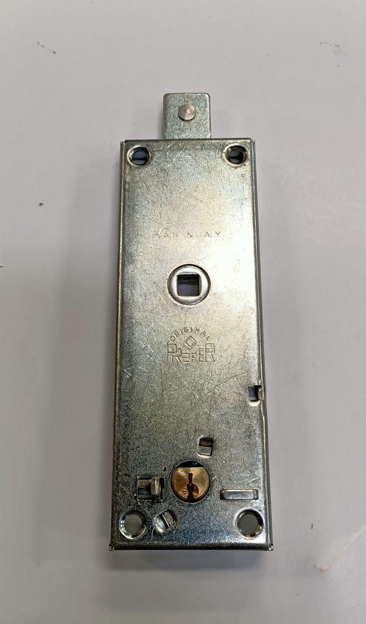 Serratura PREFER B551 per basculante/garage a cilindro tondo con quadro maniglia