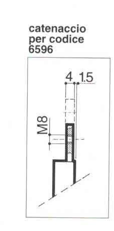 Serratura PREFER 6596 per basculante/garage a foro sagomato Yale con quadro maniglia in folle