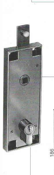 Serratura PREFER B561 per basculante/garage a foro sagomato Yale con quadro maniglia