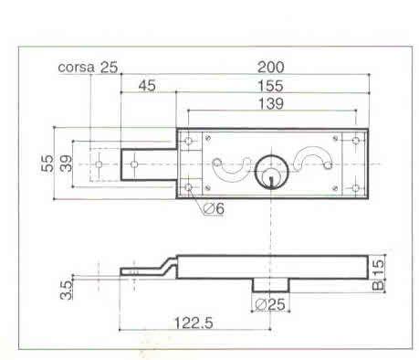 Serratura PREFER A411 Dx per serranda