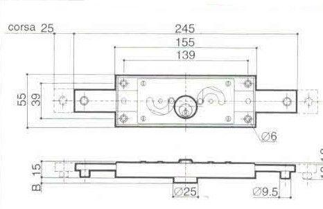 Serratura PREFER A211  centrale per serranda avvolgibile