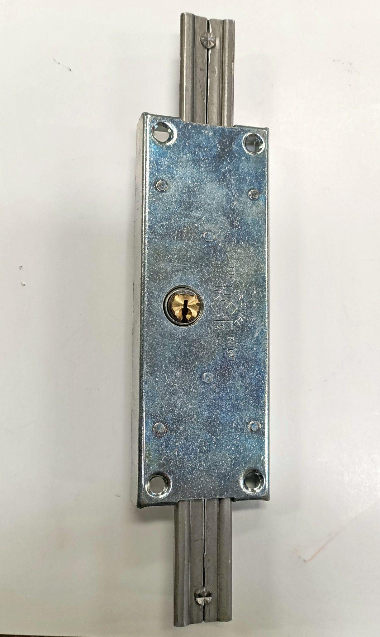Serratura PREFER A311 Dx per serrande scorrevoli con cilindro tondo in ottone