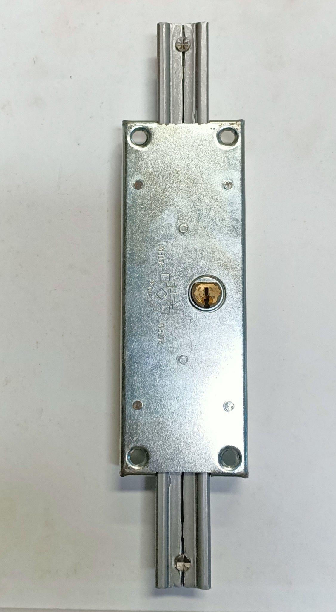 Serratura PREFER A312 Sn per serrande scorrevoli con cilindro tondo in ottone