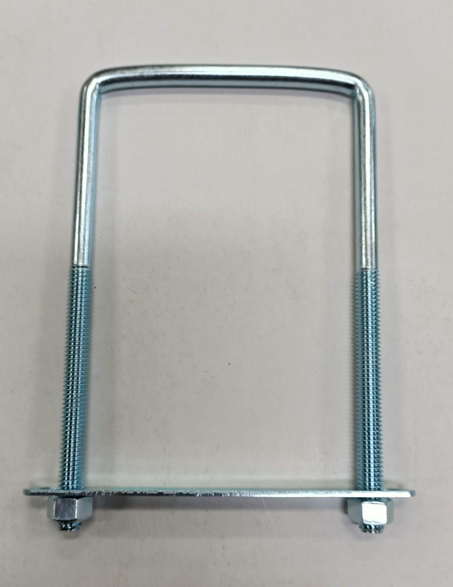 Cavallotto quadro mm 8 x 177 con piastra e dadi in ferro zincato