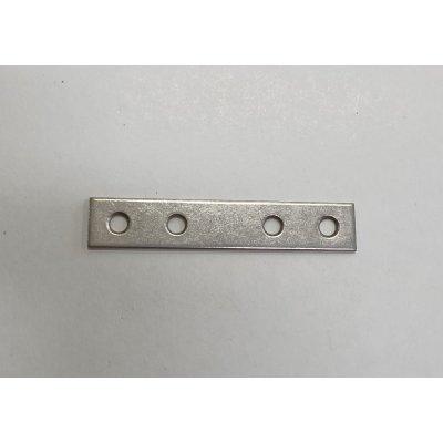 Lastrina diritta INOX mm 80 a 4 fori larghezza mm 15 spessore mm 1,5