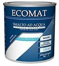 Smalto ad acqua BIANCO SATINATO 750 ml ECOMAT AREA 51