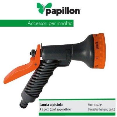 Pistola per irrigazione con 8 funzioni e regolazione flusso PAPILLON
