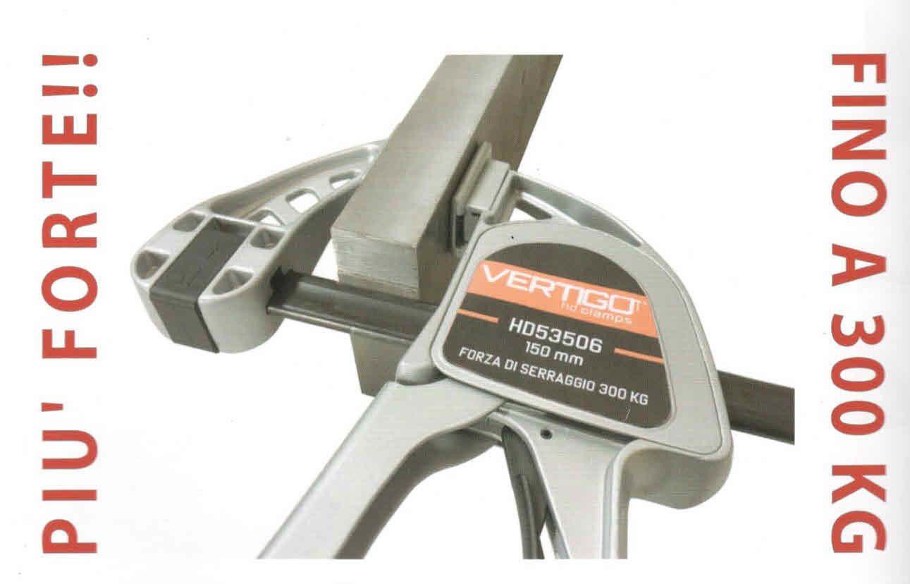 Strettoio a barra HD CLAMP VERTIGO mm 455