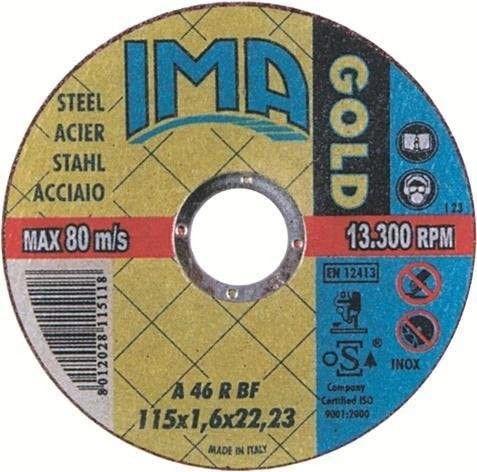 Disco per taglio ALLUMINIO Ø 115 x 1,6 mm foro 22,23 IMA
