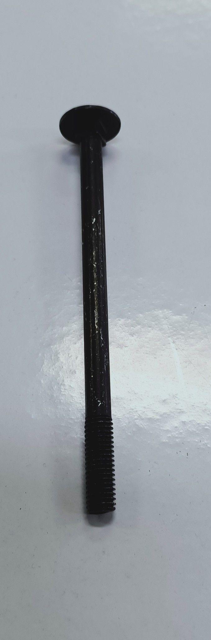 Bullone mm  8 x120 testa tonda quadro sotto testa nero