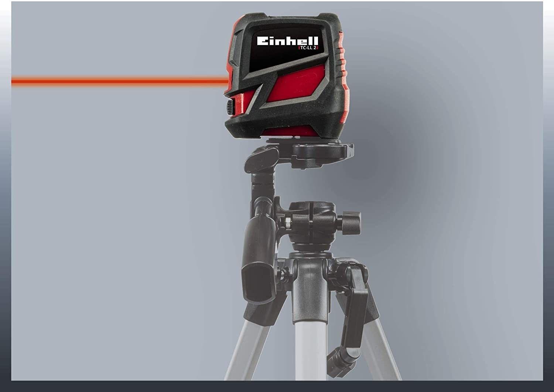 Livella Laser a raggio incrociato TC-Ll 2 Nero/Rosso, 8 M Einhell 2270105