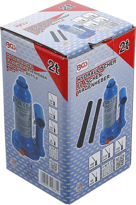 Cricco idraulico a Bottiglia 2000 Kg compatto BGS 9881